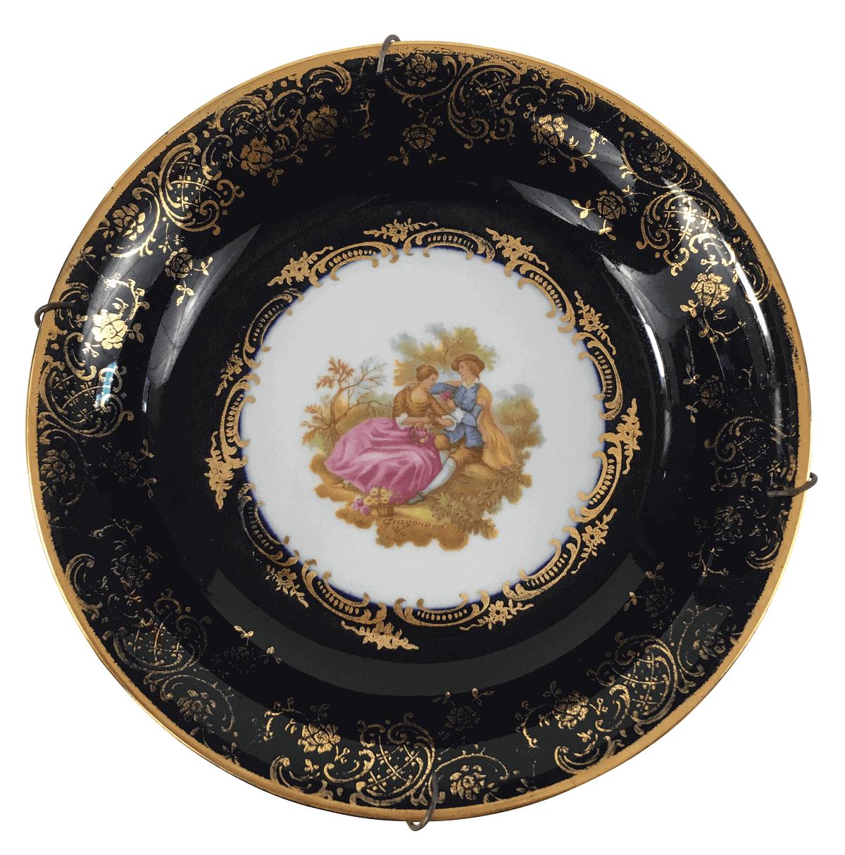Antigo Pratinho Decorativo Cena Galante Porcelana Limoges