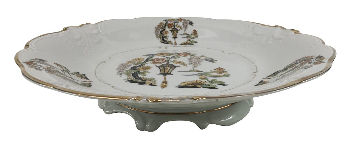 Antigo Prato Fruteira Porcelana Kpm 31cm