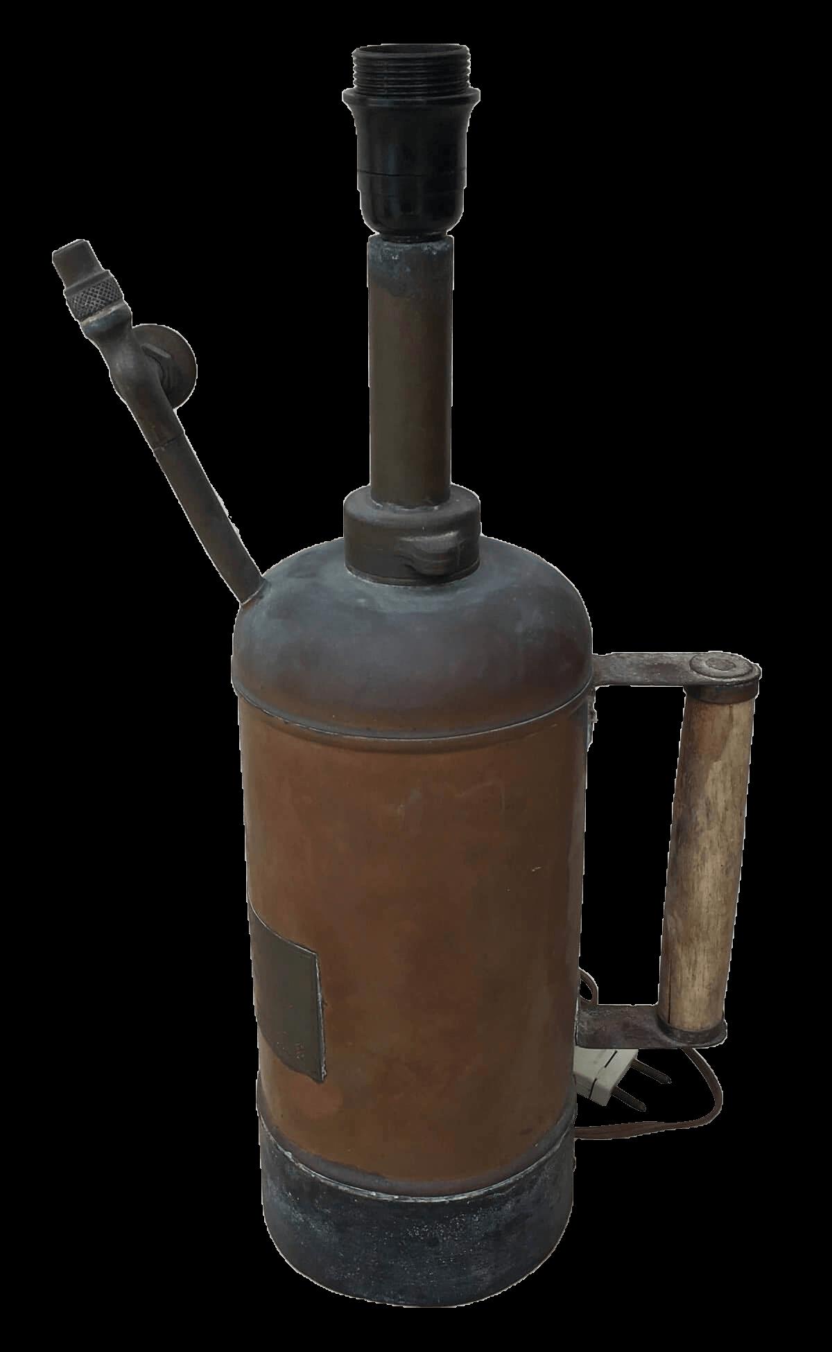 Antigo Pulverizador De Cobre Excelsior Adaptado Abajur