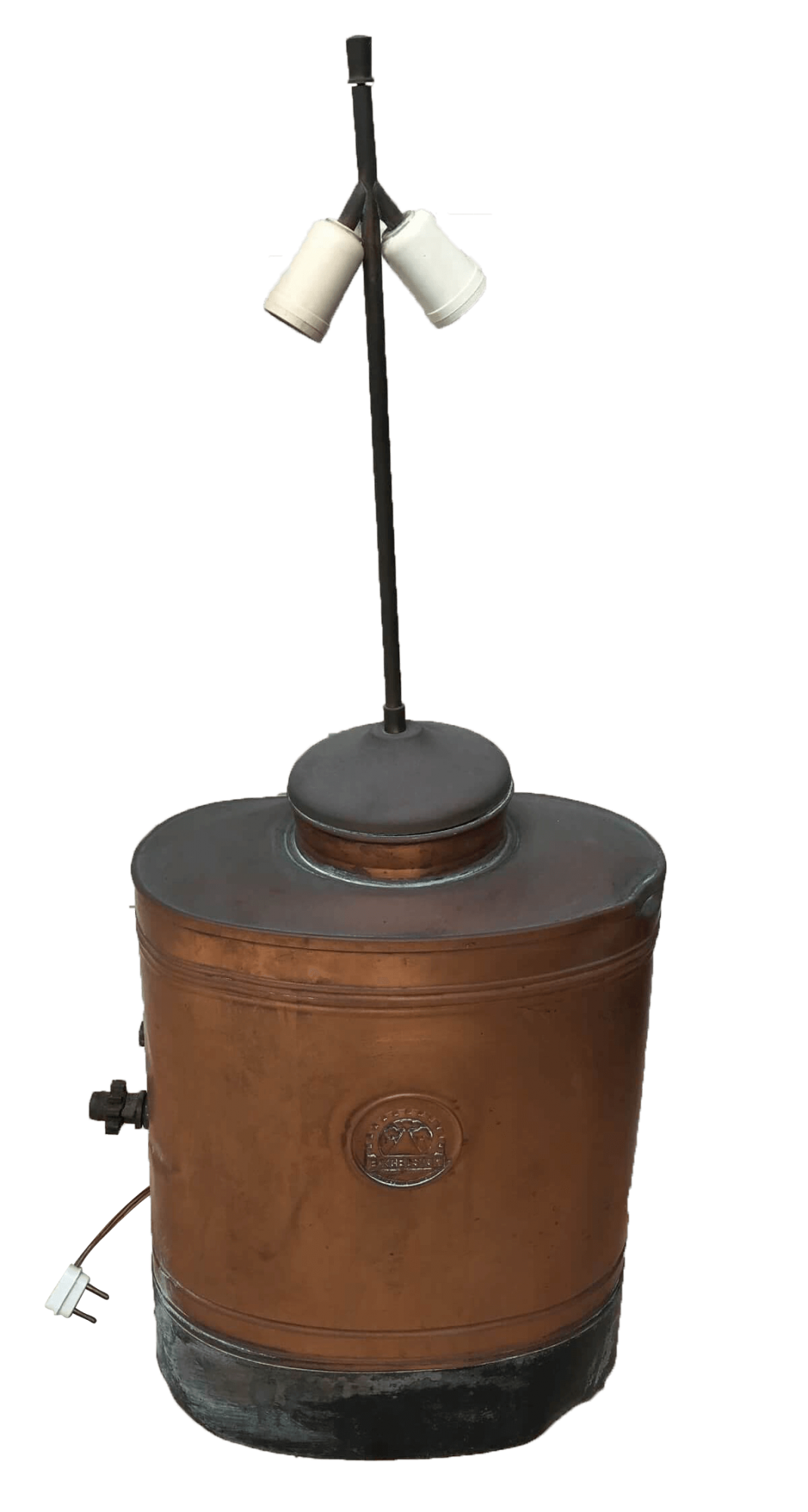 Pulverizador Antigo De Cobre Excelsior Adaptado Abajur