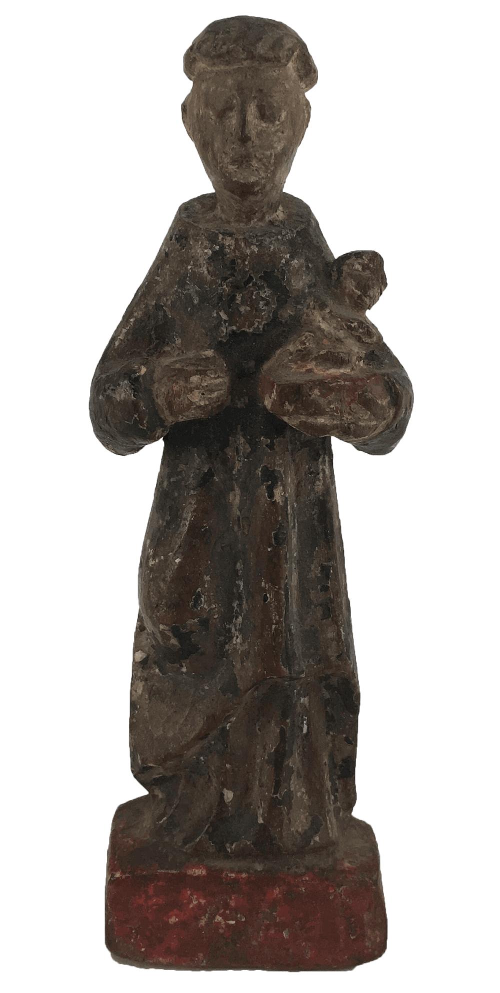 Antigo Santo Antonio Madeira 14cm