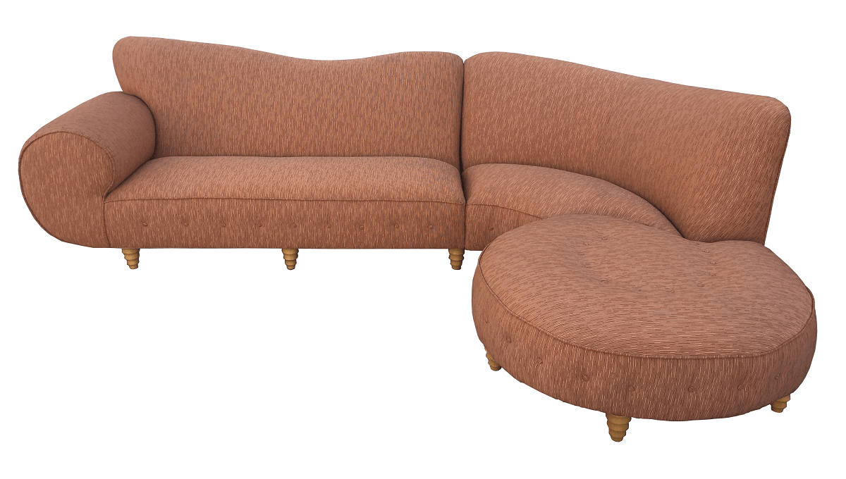 Antigo Sofa Curvo Belo Design