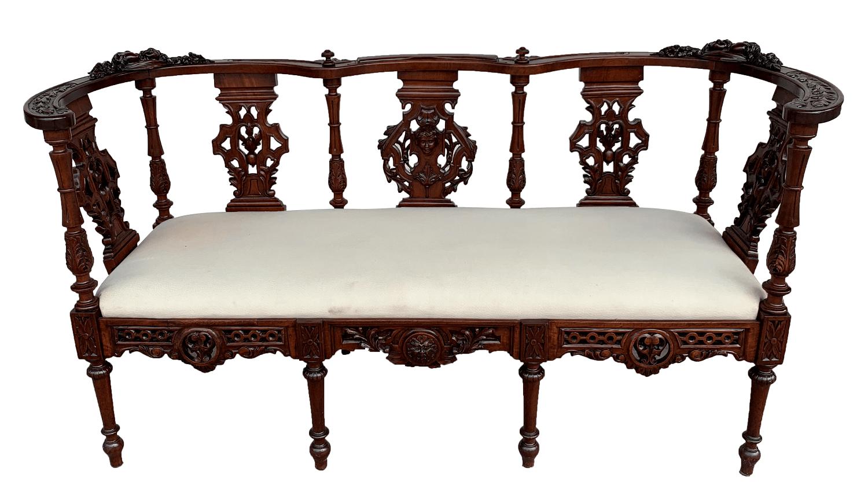 Antigo Sofa Namoradeira Vitoriano Espetacular