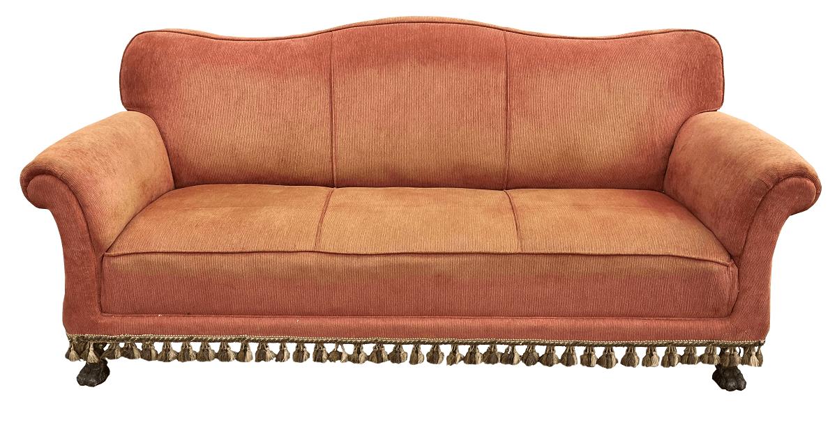 Antigo Sofa Pe Pata De Leao Renascença