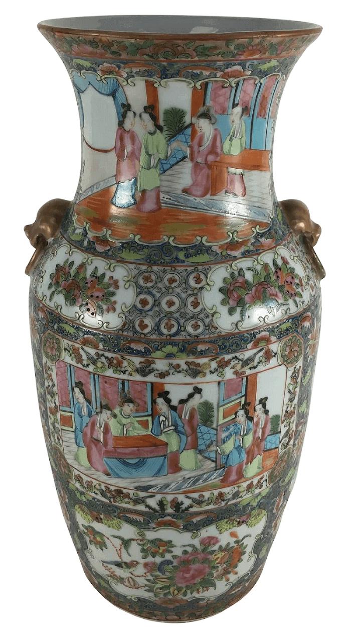 Antigo Vaso Em Porcelana Companhia Das Indias