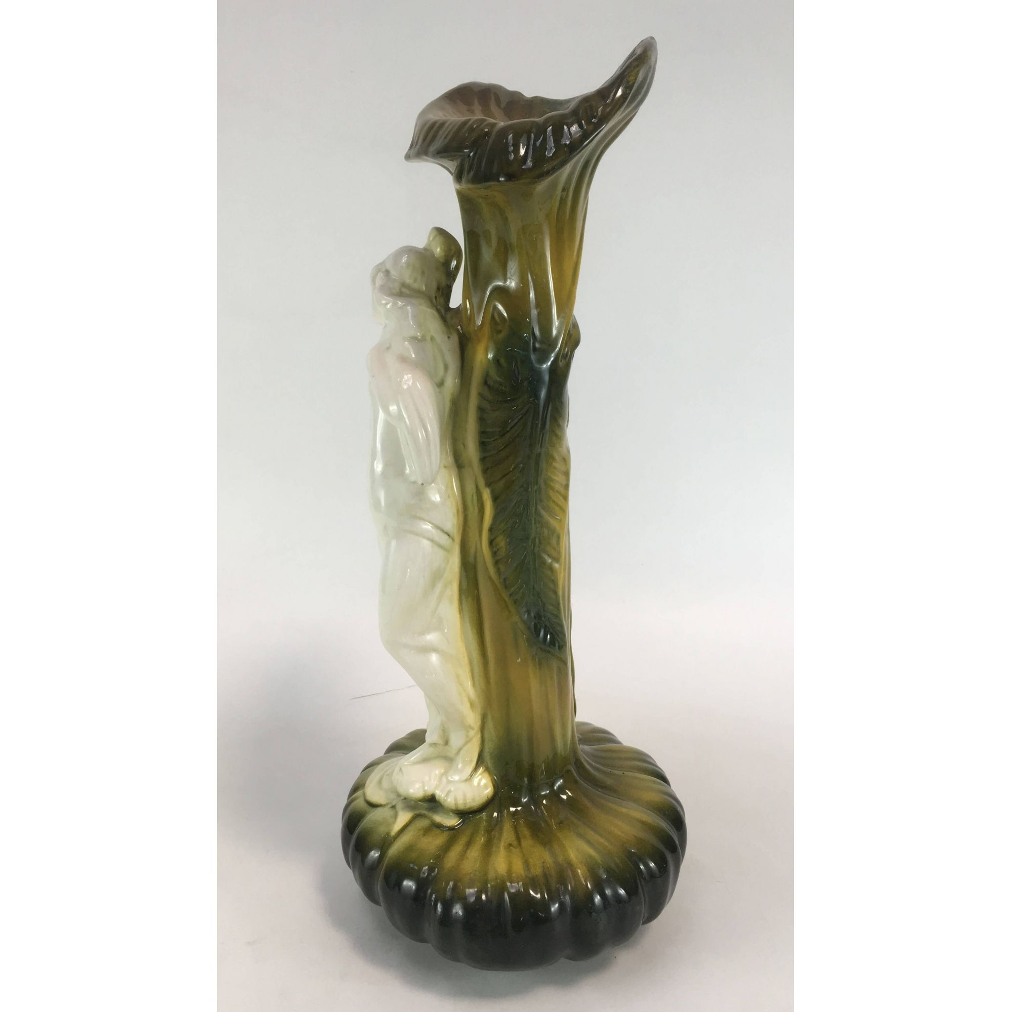 Antigo Vaso Escultura Ceramica Art Noveau