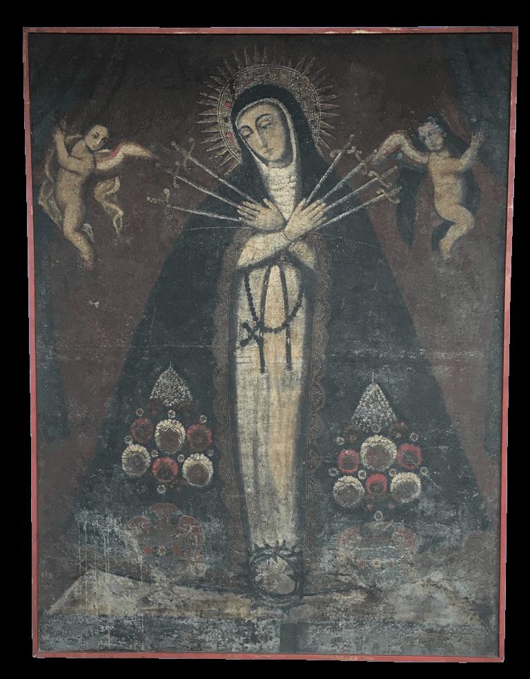 Antiguissimo Quadro Cusquenho 143x109 N. Senhora Das Dores