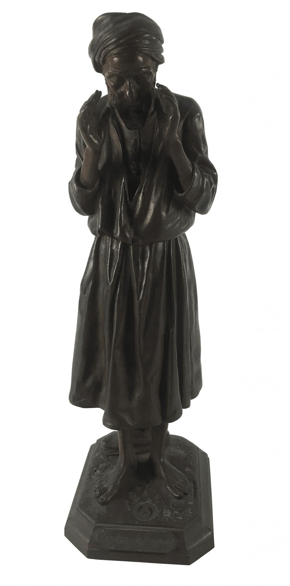 Antoine Bofill Escultura De Bronze Antiga Frances Assinada