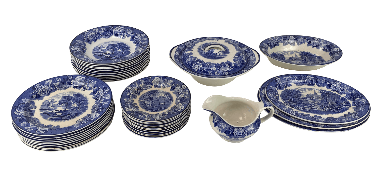 Aparelho De Jantar Ingles Fazendinha Porcelana Antiga