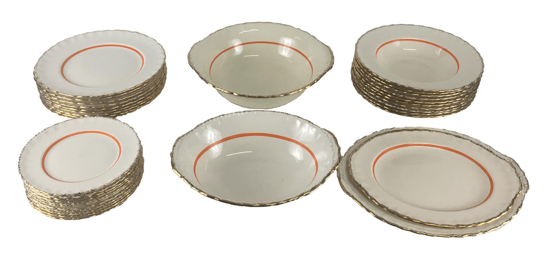 Aparelho De Jantar Ingles Porcelana Antiga Grindley Ouro