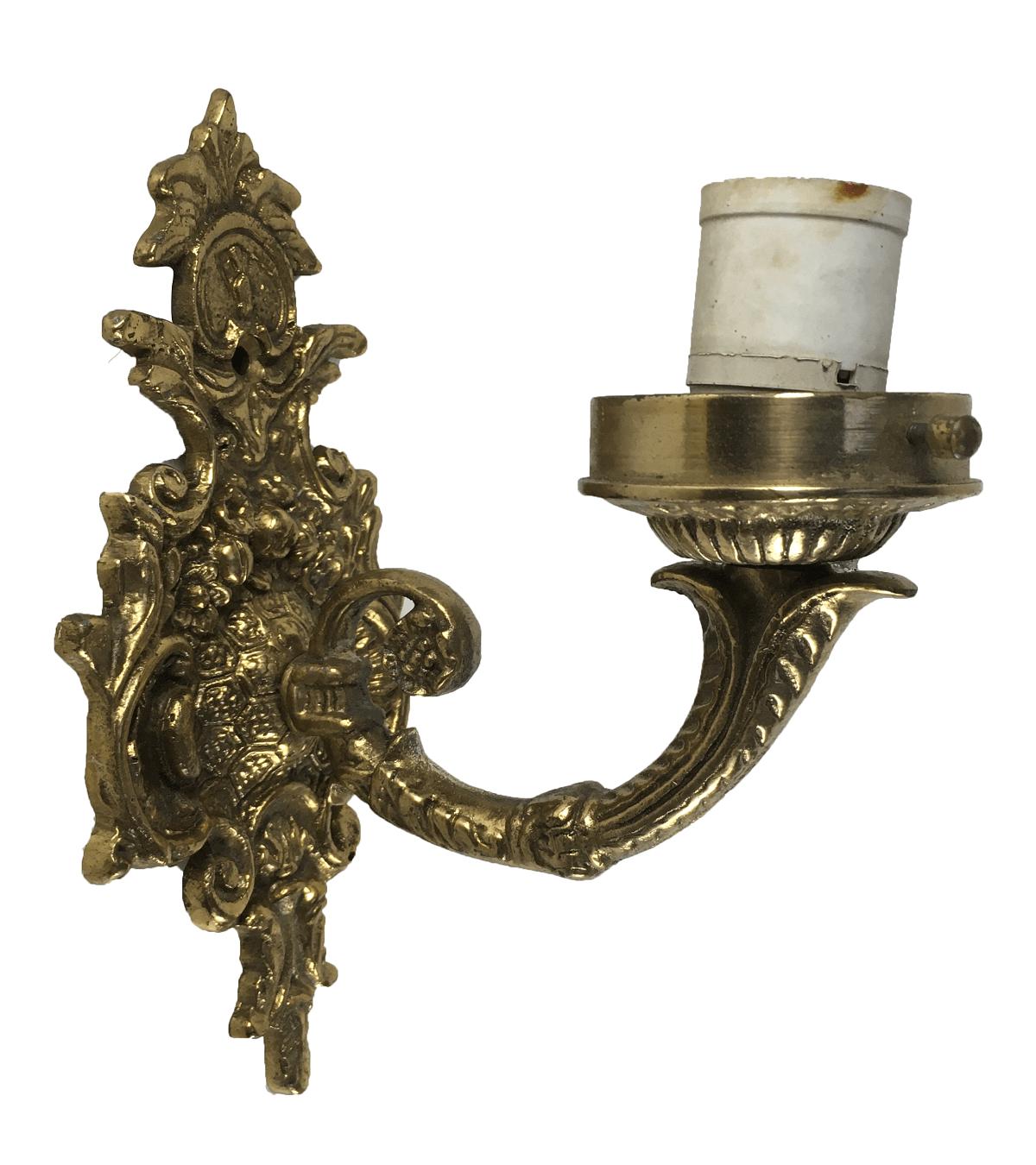 Arandela Antiga Em Bronze