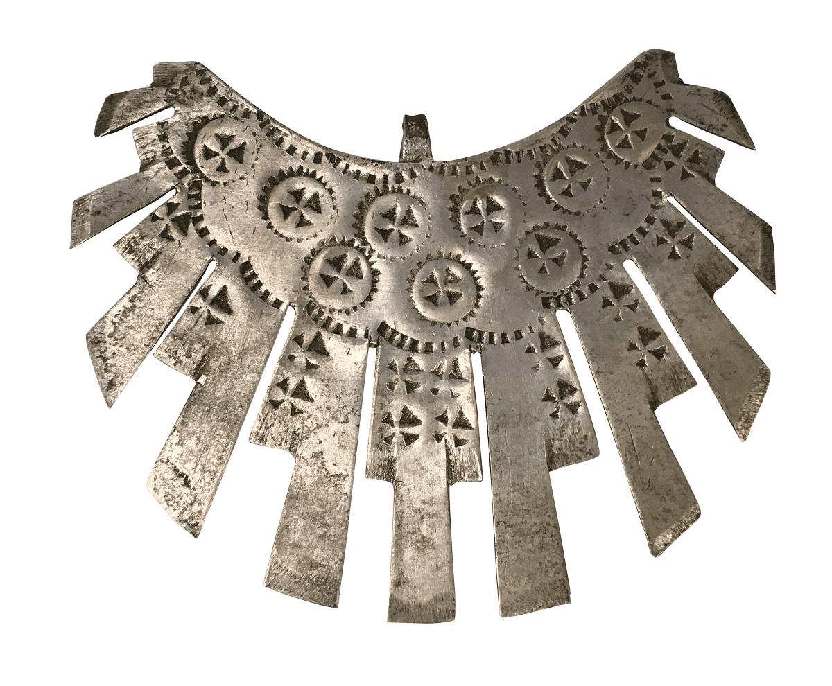 Arte Sacra Antigo Resplendor Em Metal