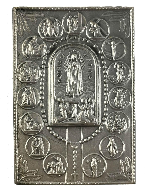Arte Sacra Placa Antiga Imagem Nossa Senhora De Fatima