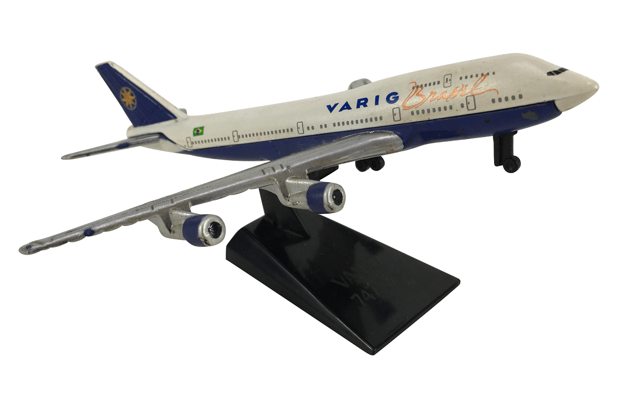 Aviao Boeing 747-300 Varig Brasil Em Miniatura