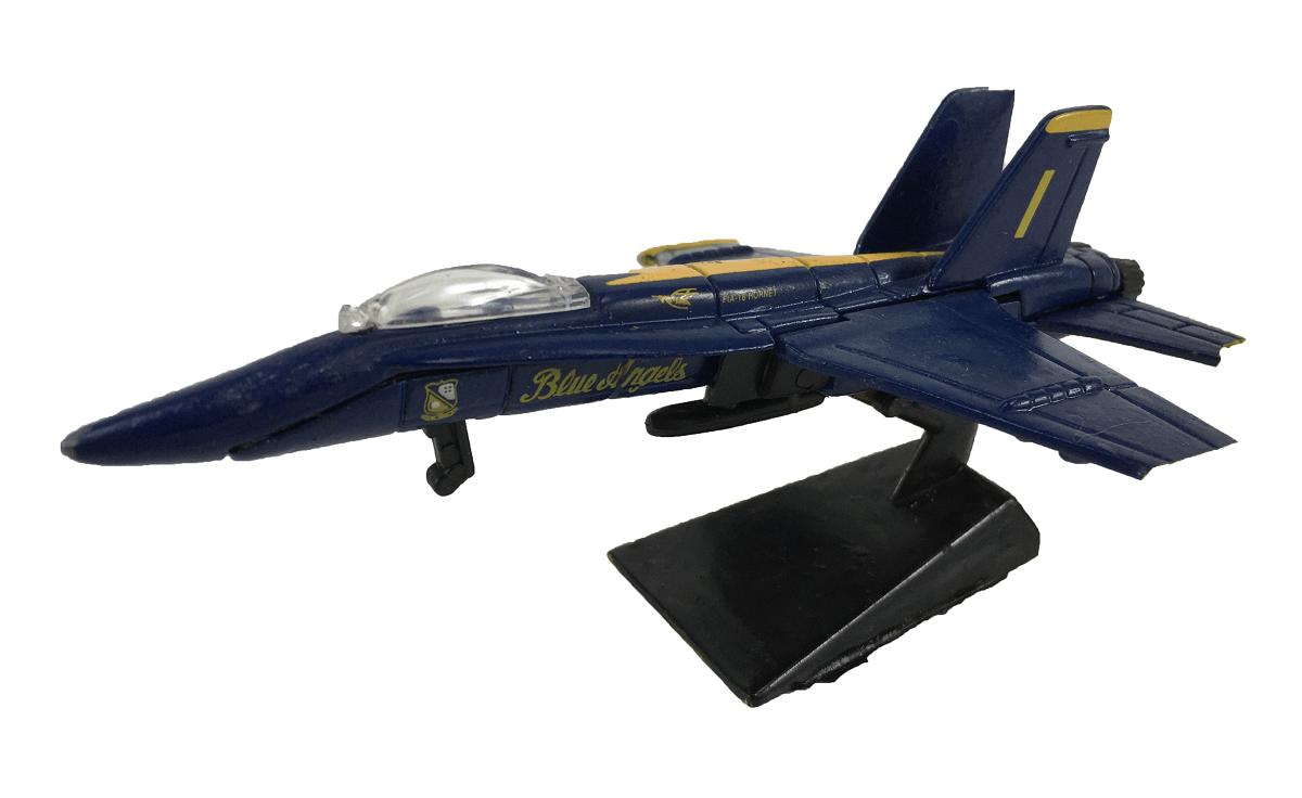 Aviao Caça FIA 18 Hornet Blue Angels Miniatura