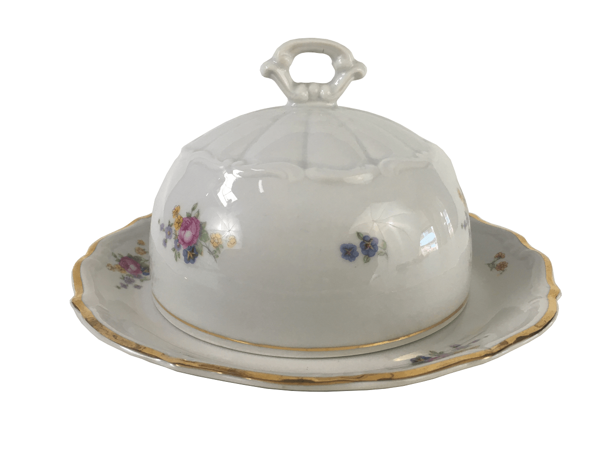 Belissima Mantegueira Porcelana Antiga Polonesa Borda Ouro