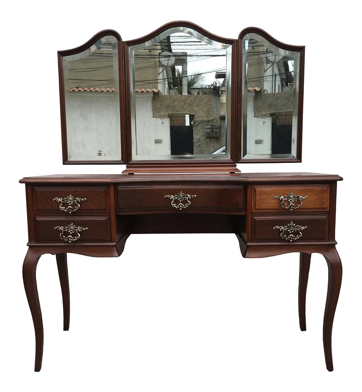 Belissima Penteadeira Chipandelle Antiga Tres Espelhos Perfeita
