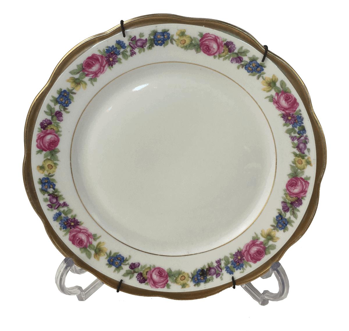 Belissimo Prato De Sobremesa Porcelana Kpm Flores