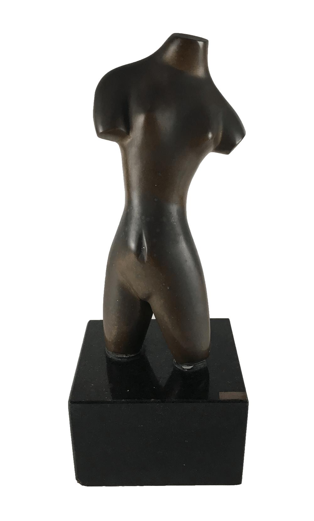 Bruno Giorgi Escultura Bronze Torso Feminino Assinada