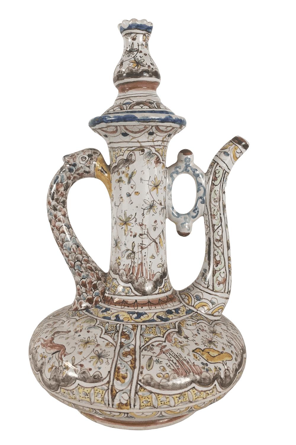Bule Antigo Em Ceramica Conimbriga Portugal