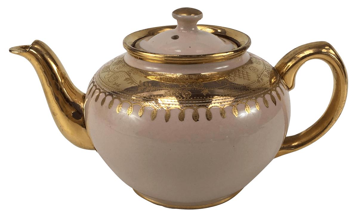 Bule De Cha Ingles Porcelana Antiga Sadler