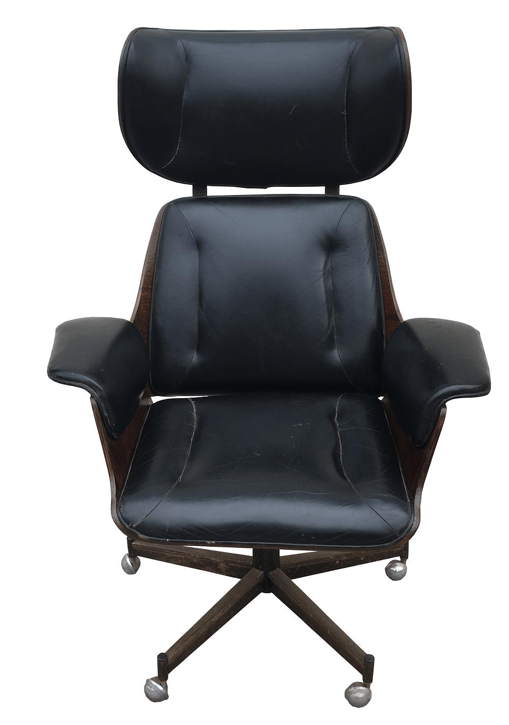 Cadeira Escritorio Antiga Design Estilo Charles Eames