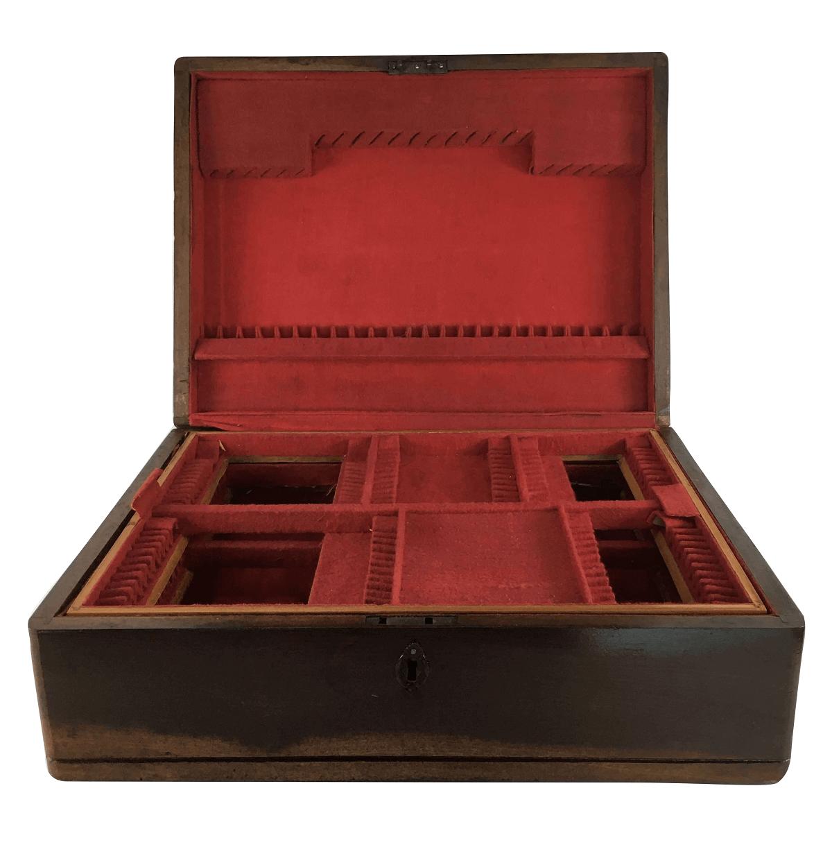 Caixa De Faqueiro Antigo 130 Peças