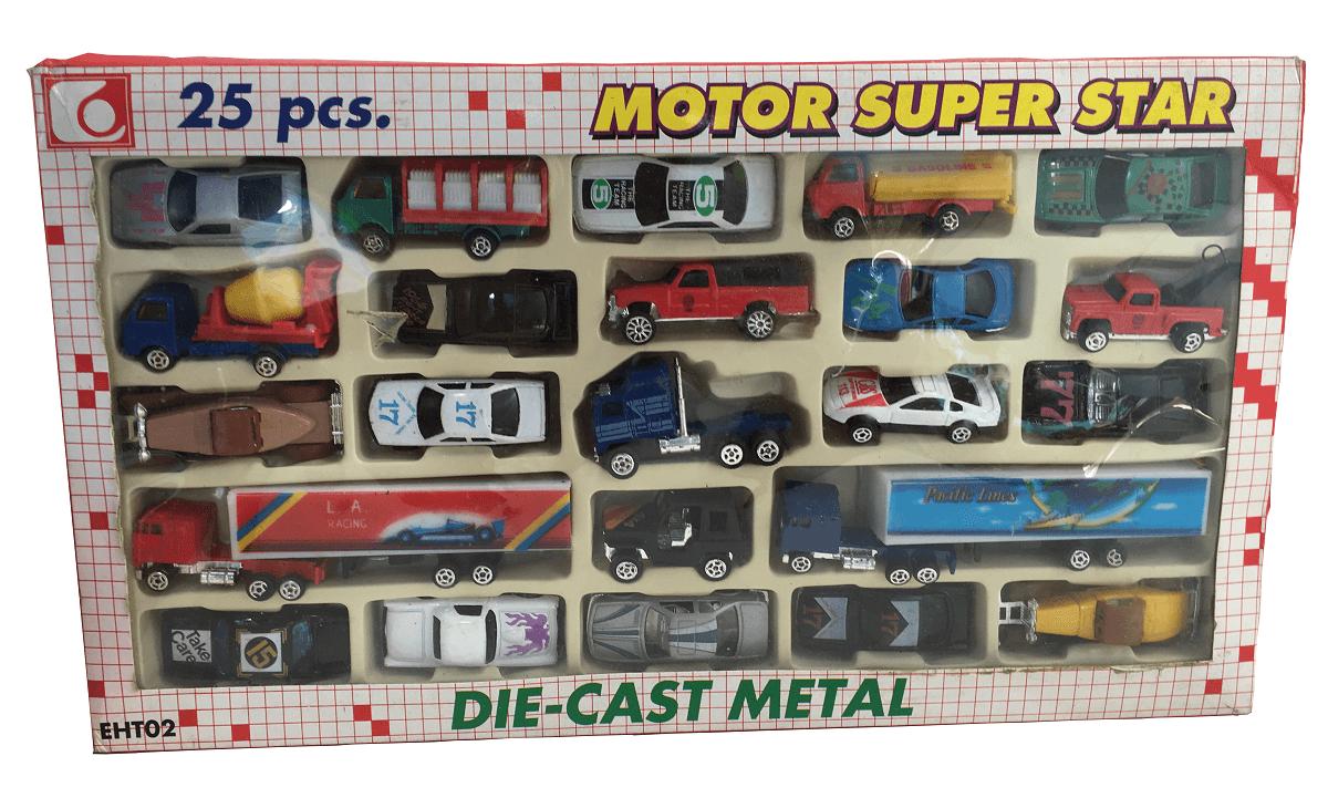 Caixa De Miniaturas Die Cast Metal 25 Peças