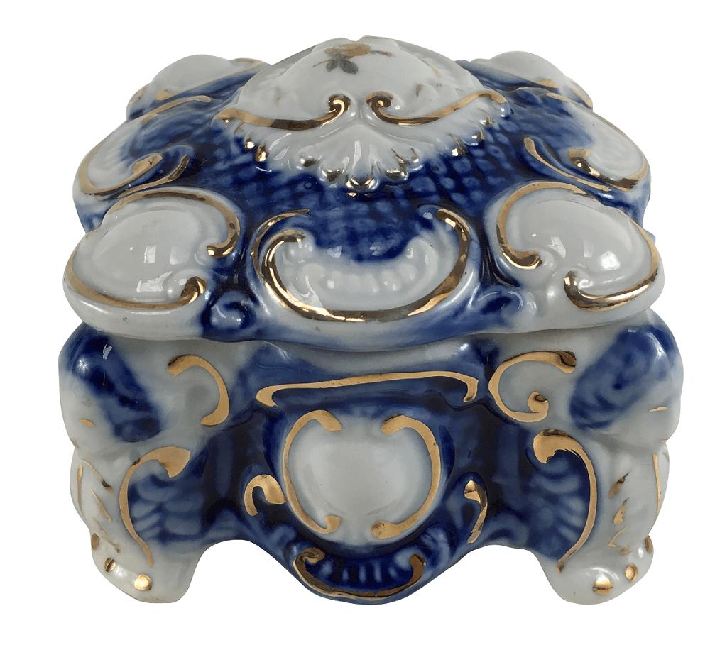 Caixinha Antiga Porcelana Pedreira