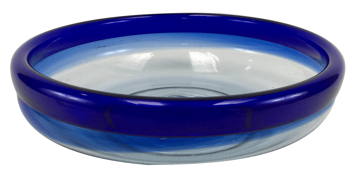 Centro De Mesa Fruteira Vidro Murano Azul