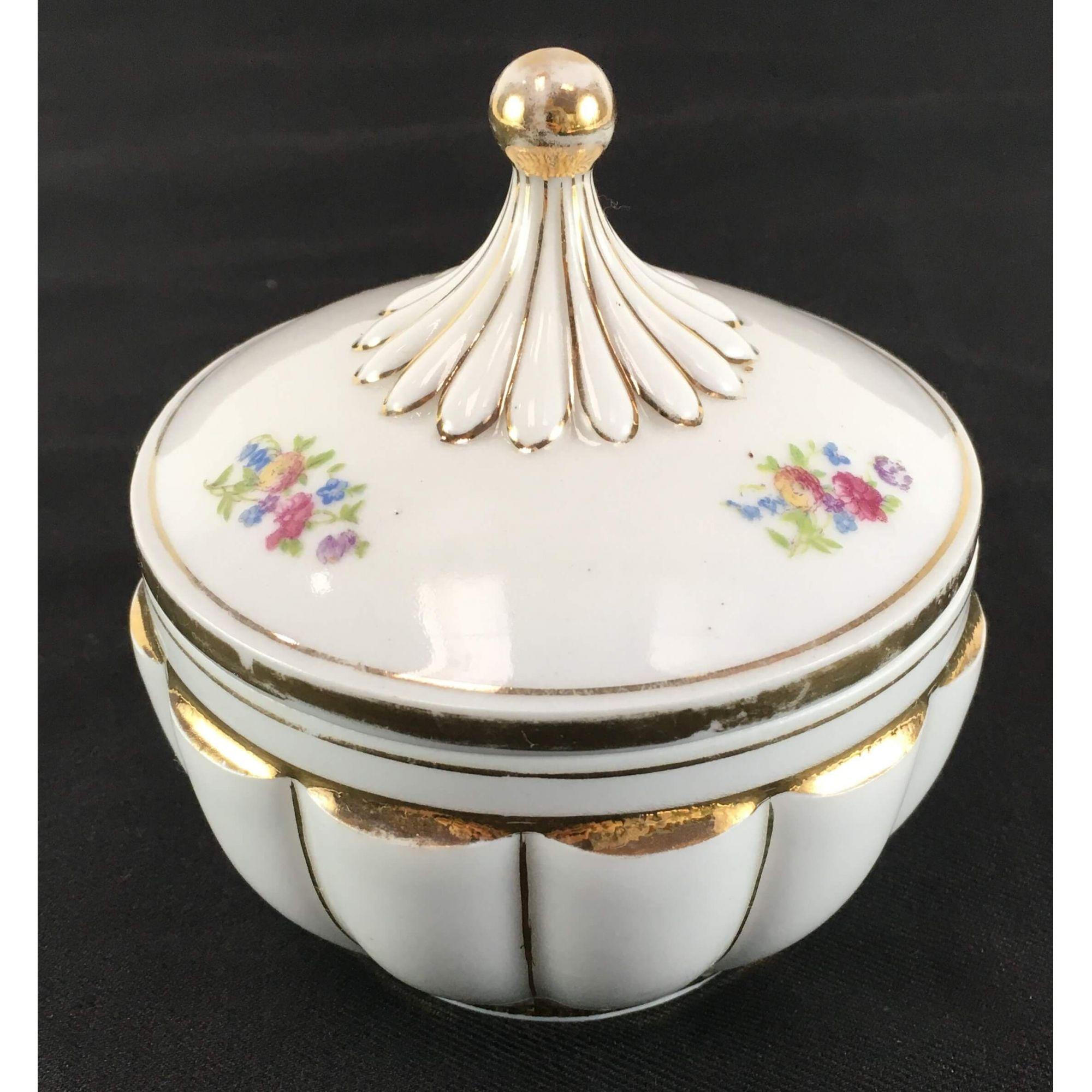 Compoteira Antiga Porcelana Detalhes Ouro
