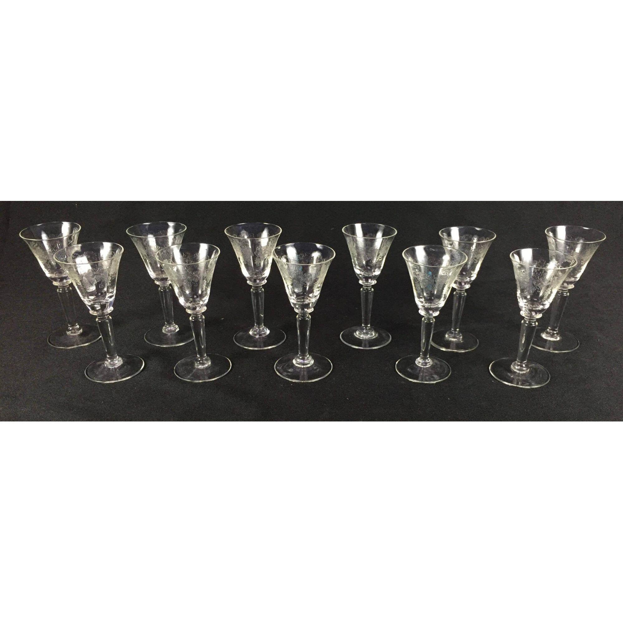 Conjunto 10 Taças Cristal Frances Saint Louis 10cm Altura