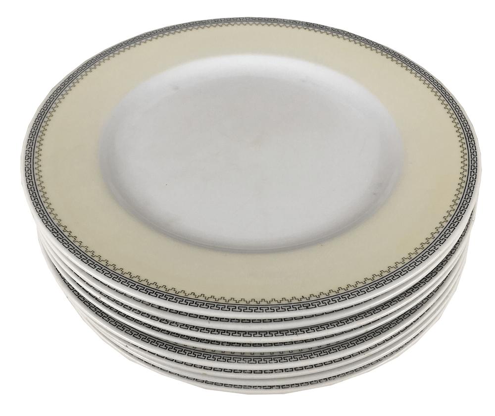 Conjunto 8 Pratos Rasos Antigos Porcelana Noritake