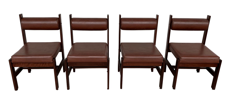 Conjunto De 4 Cadeiras Antigas Design Anos 60