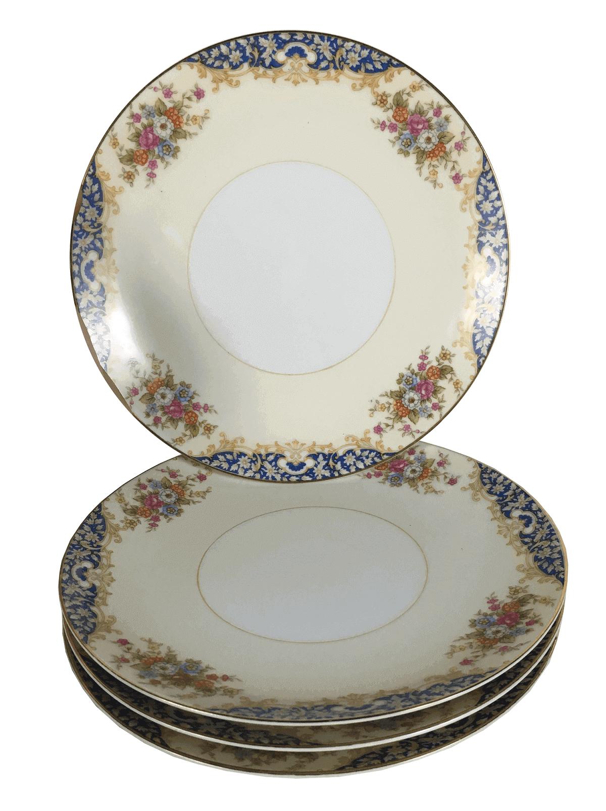 Conjunto De Prato Antigo Porcelana Noritake 18cm