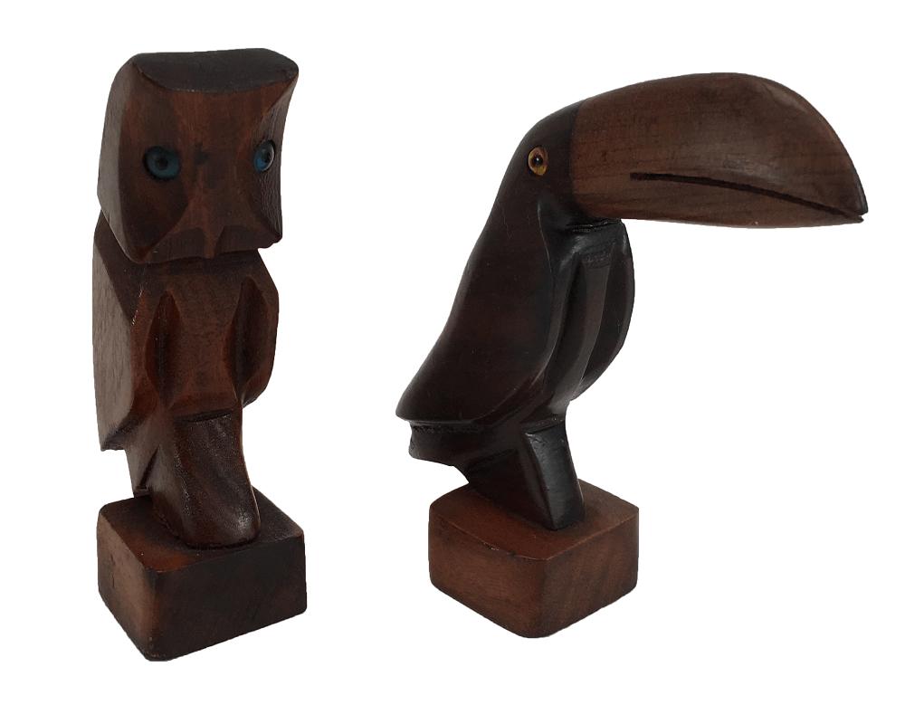 Coruja Tucano Esculturas De Madeira