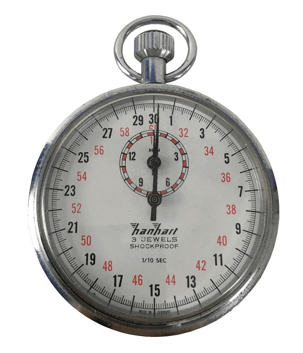 Cronometro De Bolso Antigo Alemao Hanhart Funcionando