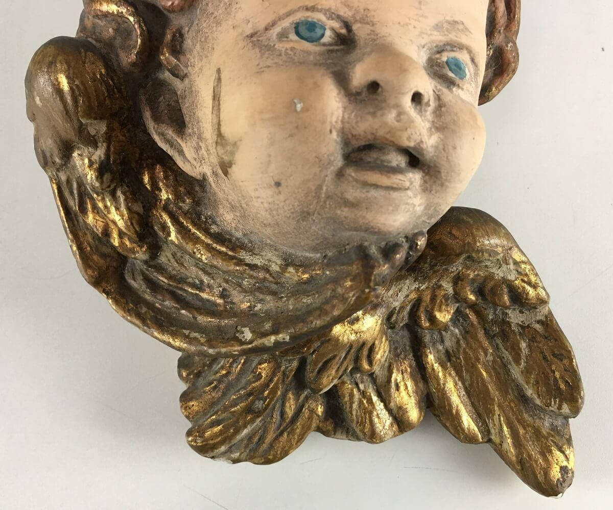 Escultura Anjo De Parede Em Gesso