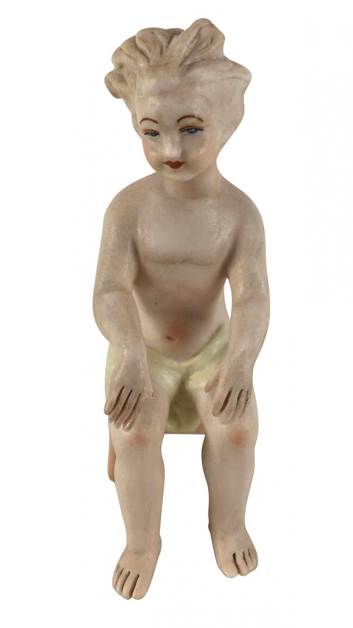 Escultura Anjo Em Porcelana Biscuit Tocando Piano