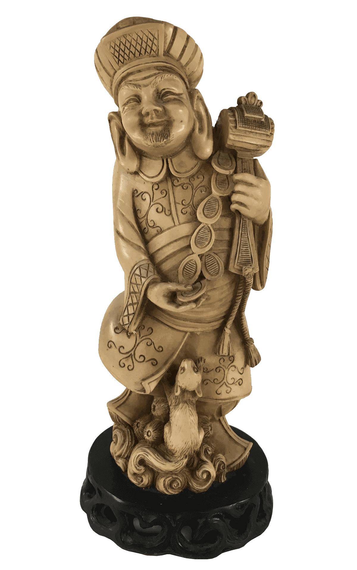Escultura Antiga Chinesa Em Resina