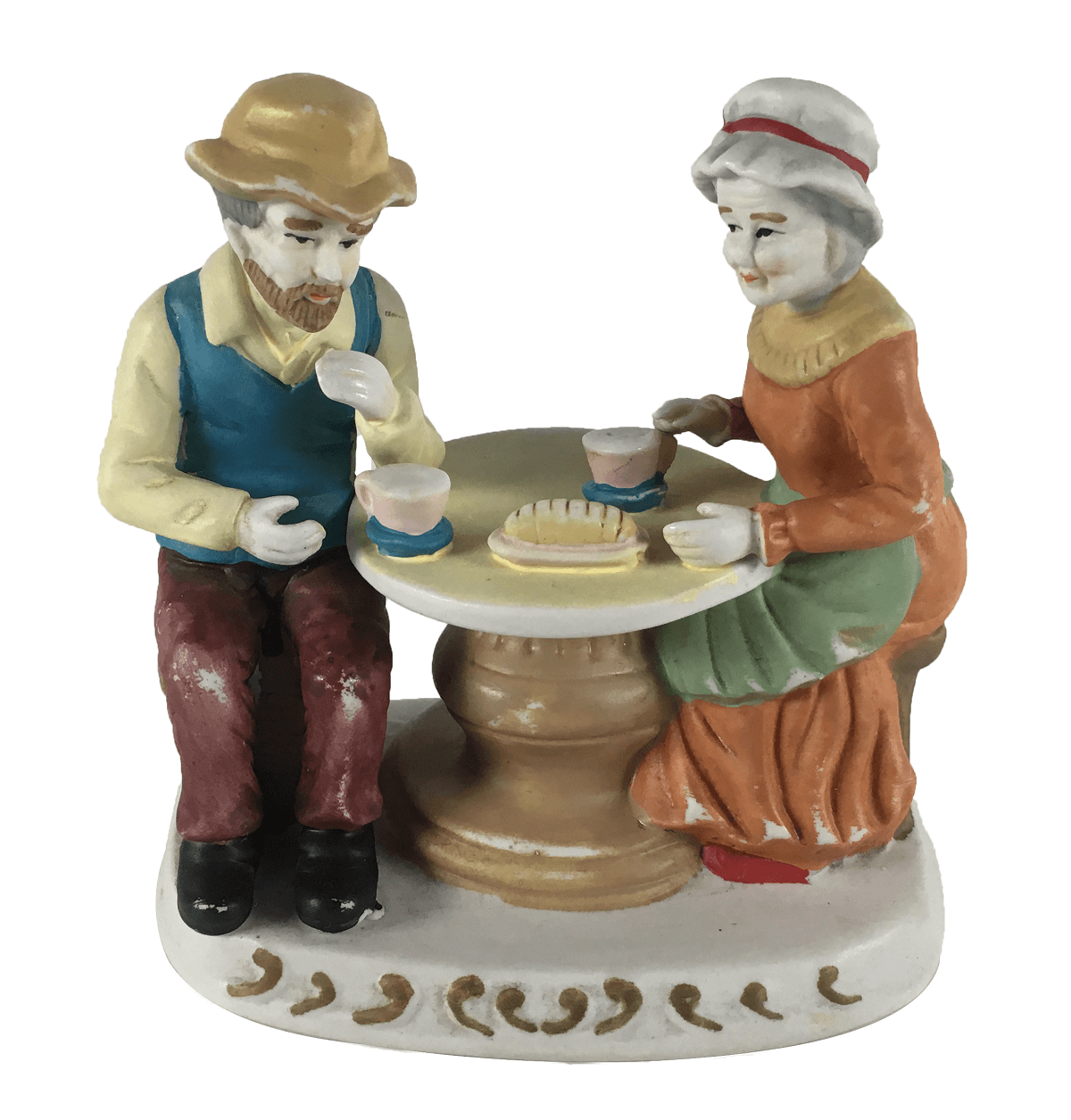 Escultura Antiga Porcelana Biscuit Italiano