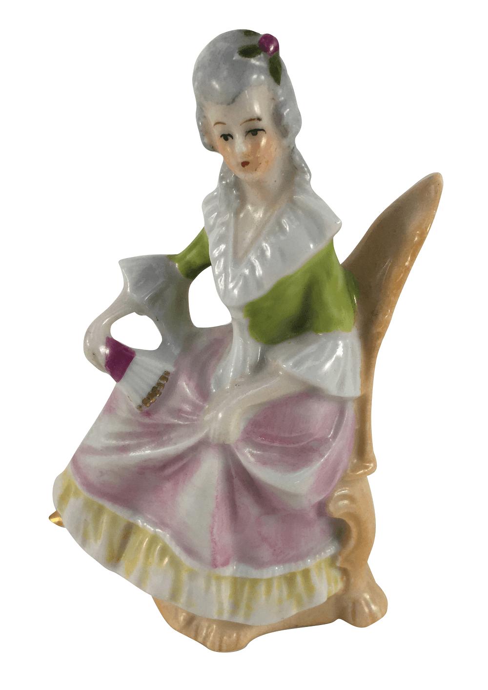 Escultura Bibelo Dama Em Porcelana Alema Numerada