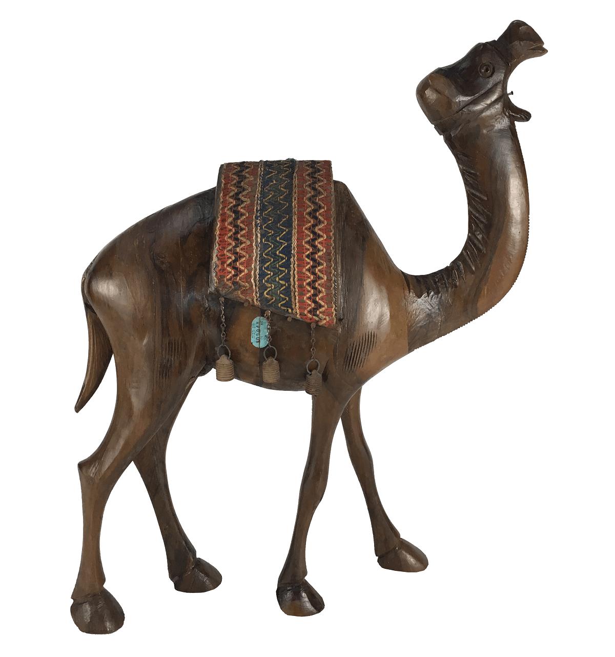 Escultura Camelo Em Madeira Jacaranda