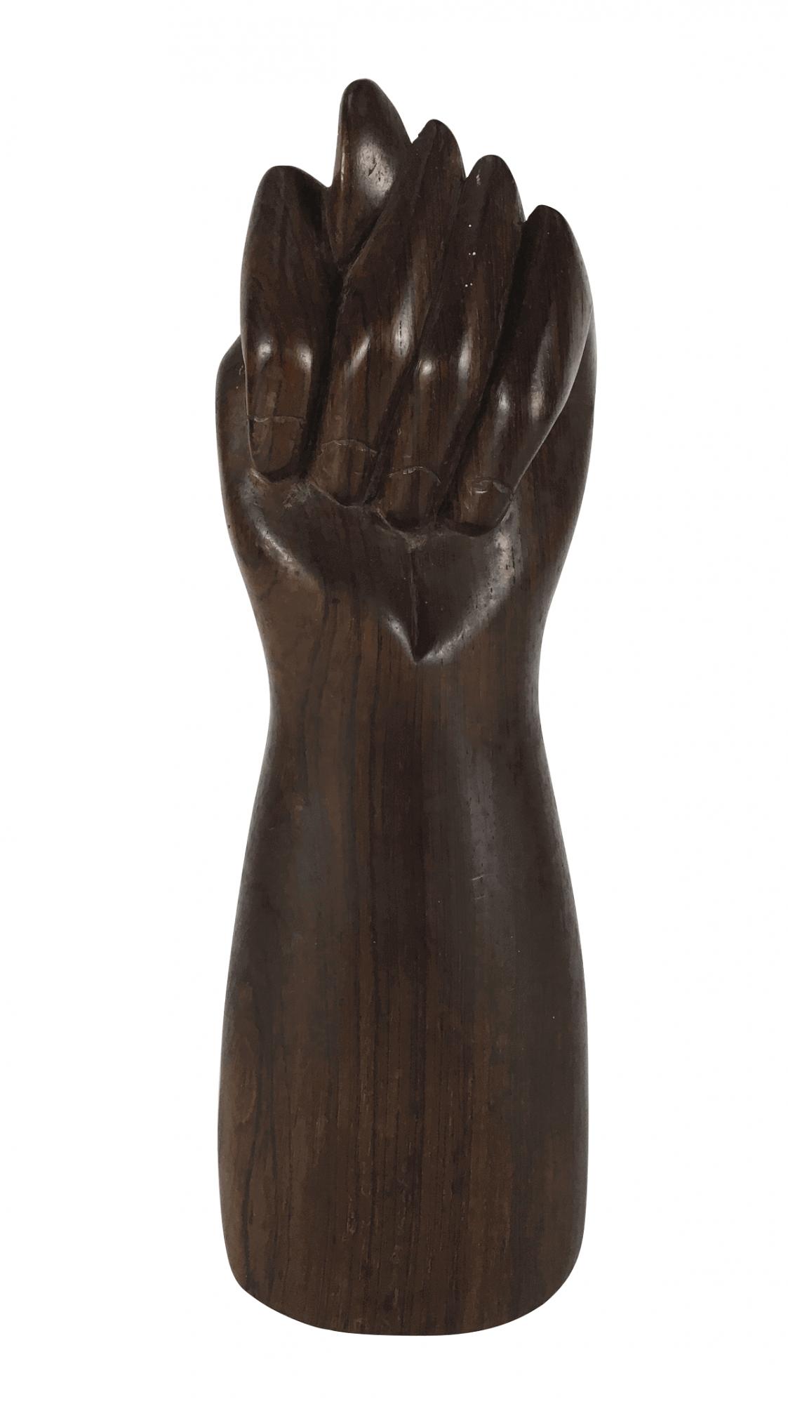 Escultura Figa Antiga Madeira Jacaranda