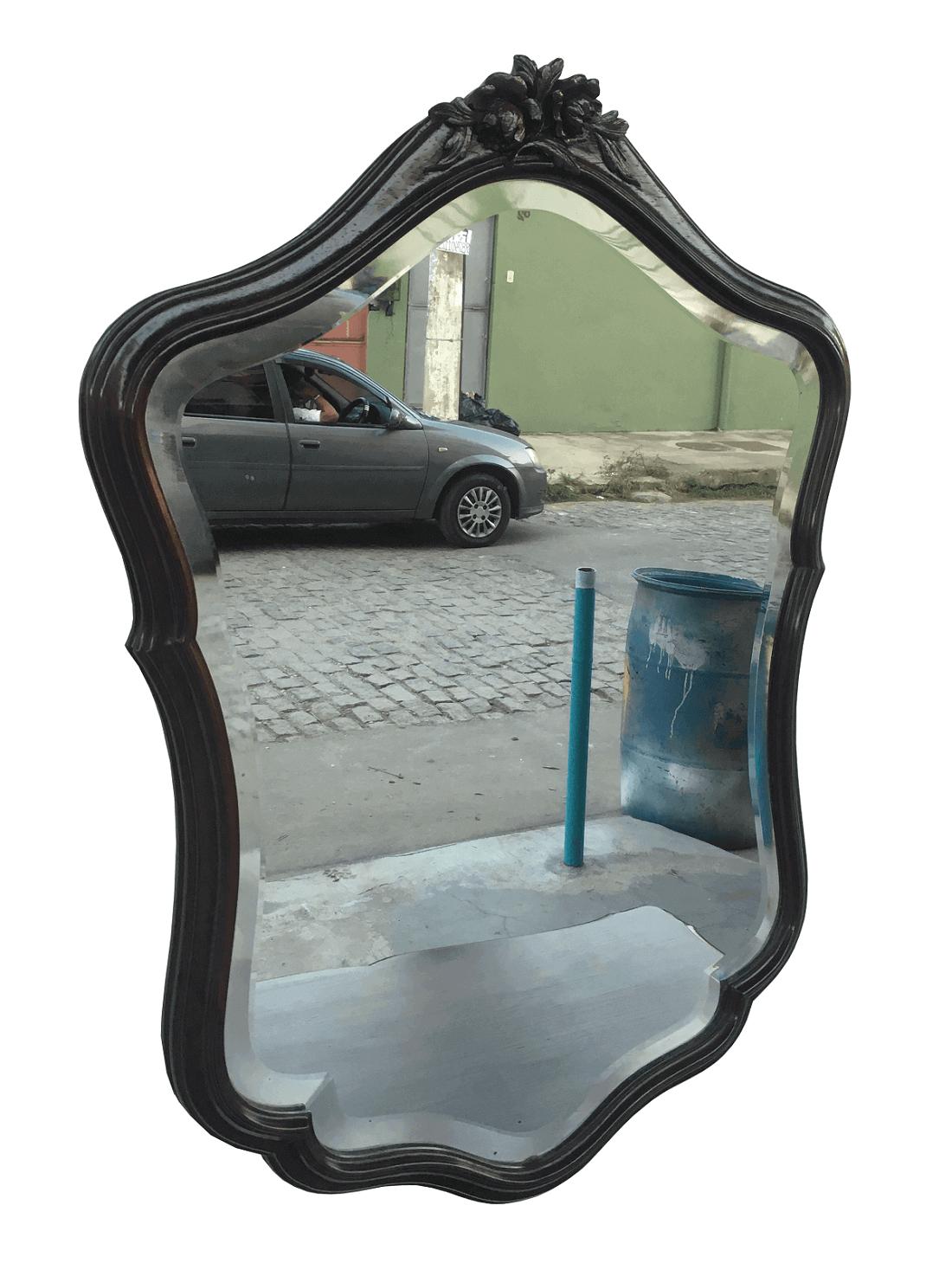 Espelho Antigo Luis Xv Jacaranda Magnifico