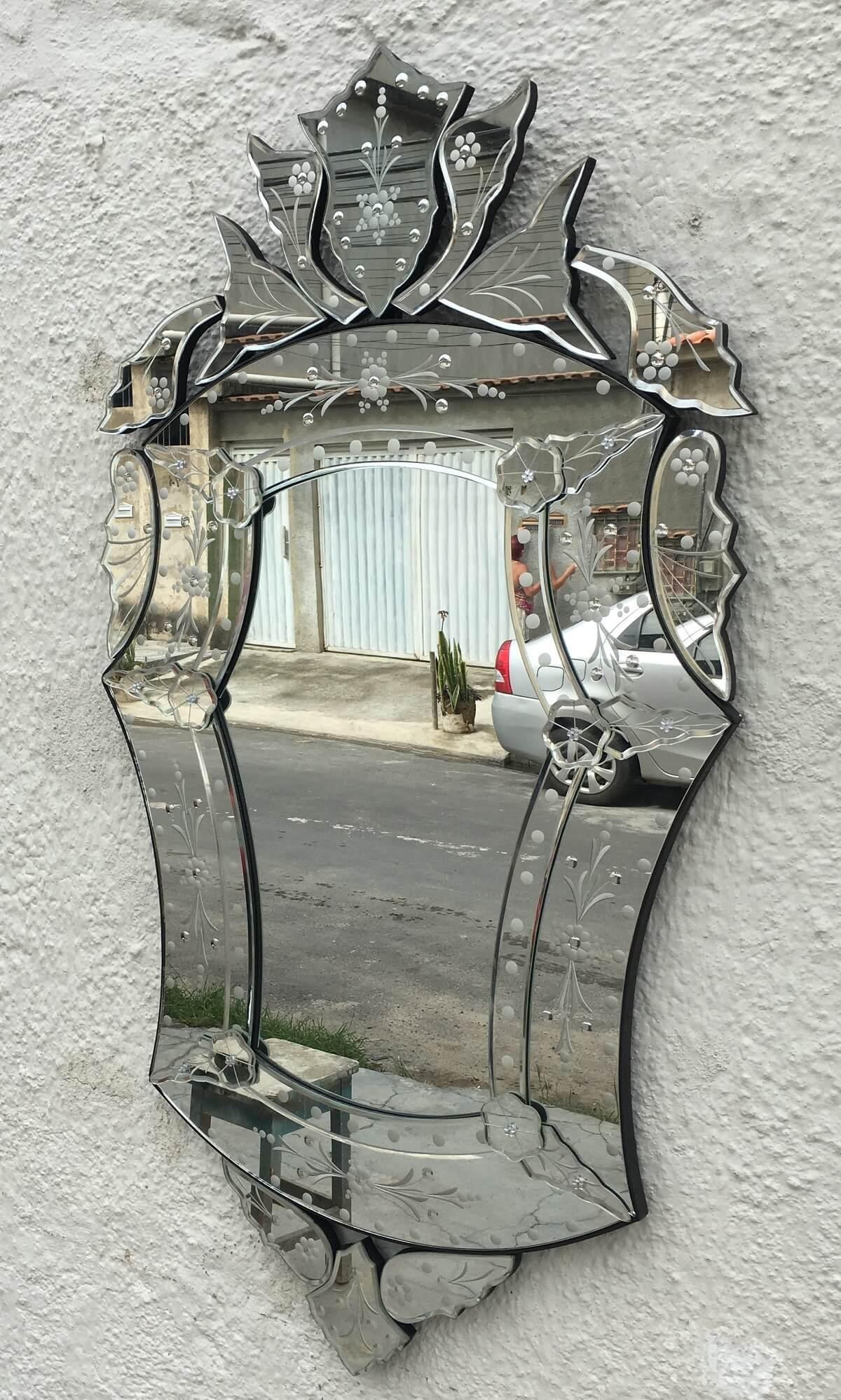 Espelho Veneziano Imperio Vintage Para Sala Ou Banheiro