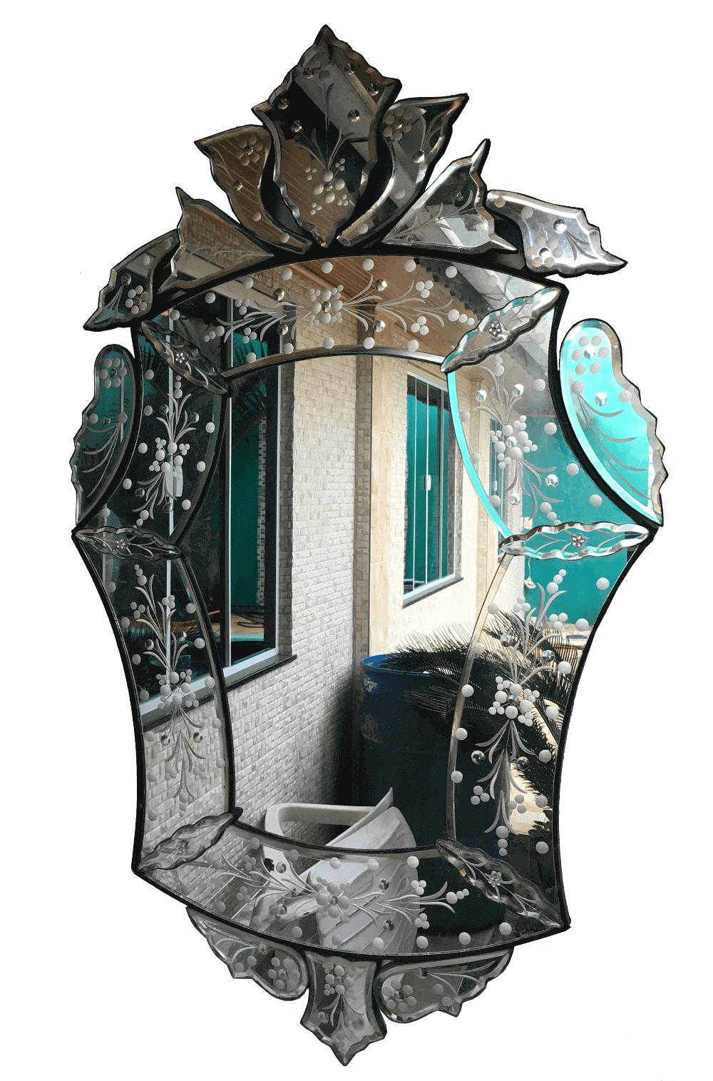 Espelho Veneziano Usado Vintage Para Sala Ou Banheiro