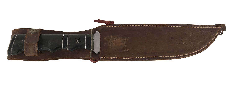 Faca Gaucha Antiga Bainha De Couro 31cm