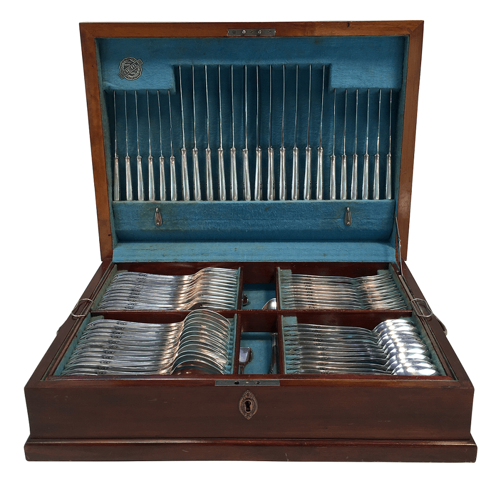 Faqueiro Antigo Prata Eberle Na Caixa Original
