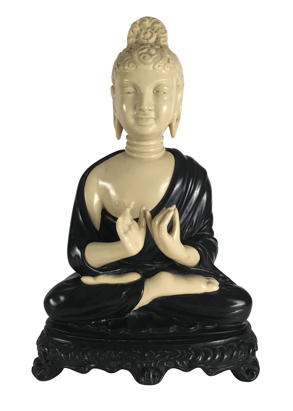Grande Buda Hindu Tailandes Em Resina 42cm